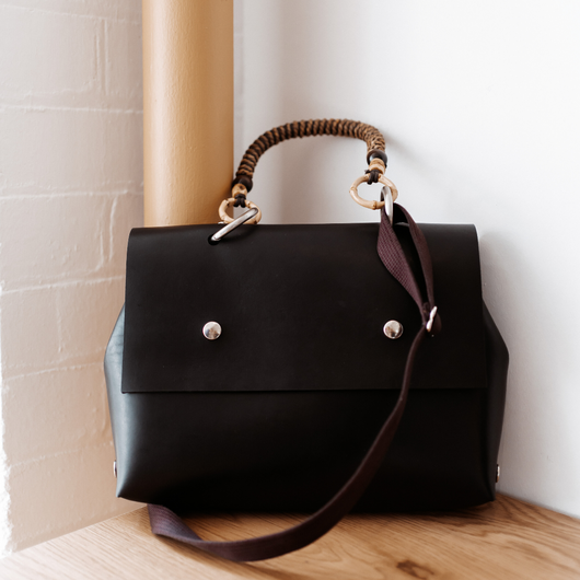 Leather bags with interchangeable straps and handles. One bag. Many stories. Find yours.