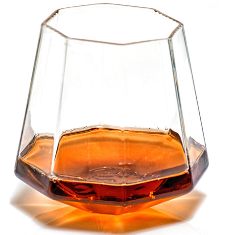 Diamond Shaped Whiskey Glass (Set of Two)
