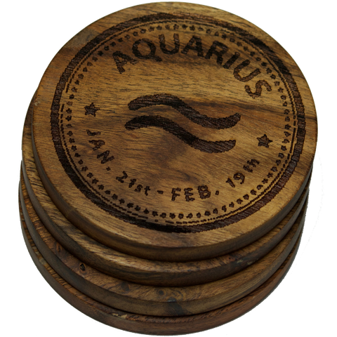 Aquarius Coasters (Zodiac)