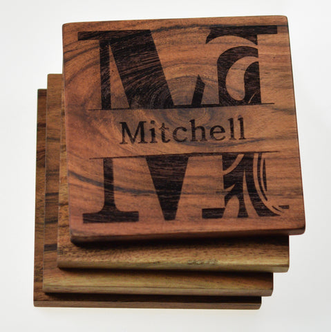 Personalized Last Name Coasters (Set of 4)