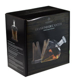 Diamond Shaped 1000ml Glass Liquor/Wine Decanter