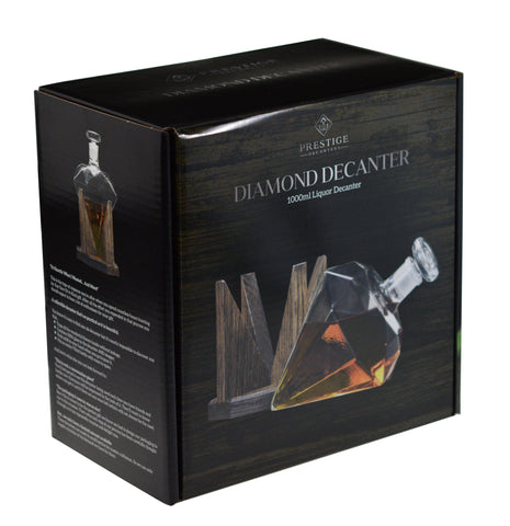 Diamond Shaped 1000ml Glass Liquor/Wine Decanter (Cullinan M Decanter)