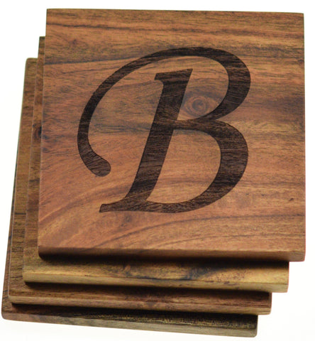 Personalized Coasters Large Initial (Set of 4)