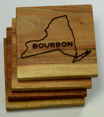 New York Bourbon Coasters