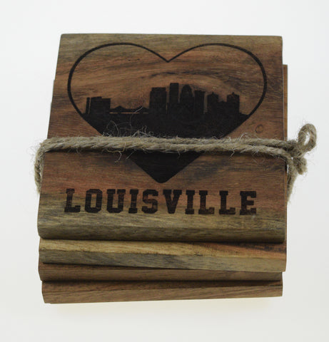 I Love Louisville Kentucky Skyline Coasters