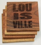 LOU IS VILLE Coaster Set Louisville, Kentucky
