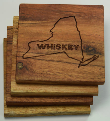 New York State (Whiskey) Coasters