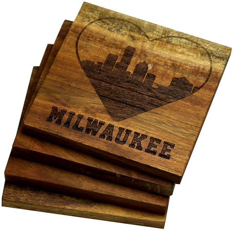 I Love Milwaukee, Wisconsin Coasters