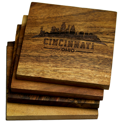 Cincinnati Ohio Skyline Coasters