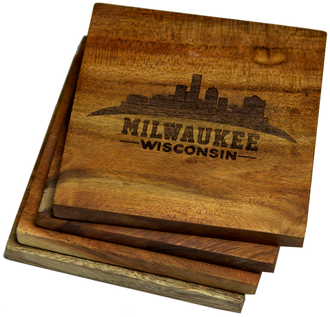 Milwaukee, Wisconsin Skyline Version 2 Coasters