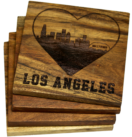 I Love Los Angeles California Coasters