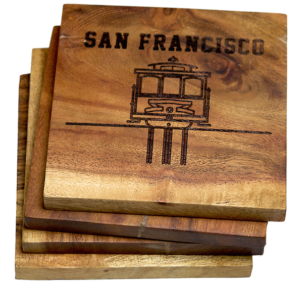 San Francisco California Trolly Car Coaster