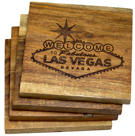 Welcome to Las Vegas Nevada Sign Coasters