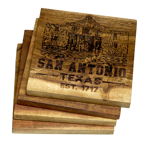 San Antonio Texas The Alamo Est. 1717 Coaster