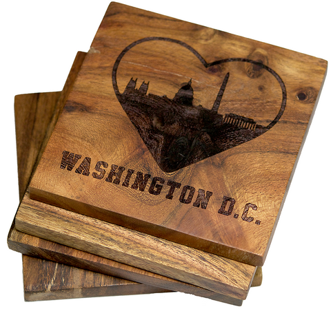 I Love Washington DC Coasters