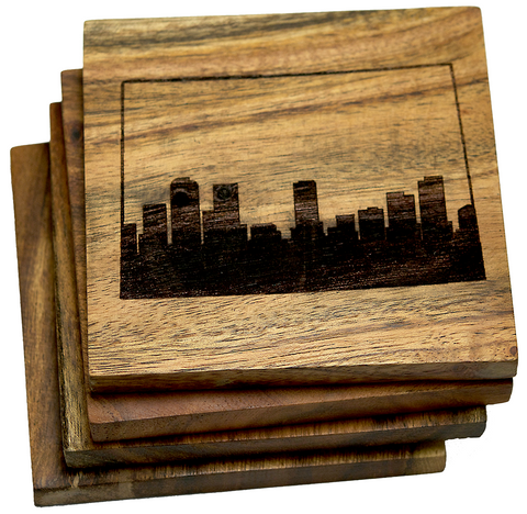 Denver Skyline inside Colorado State Coasters