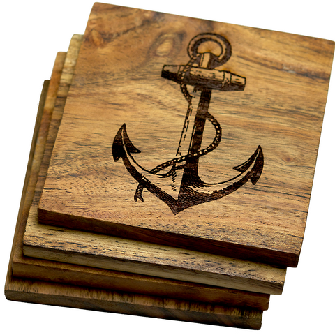 Anchor Coasters Set of Four (Nautical)