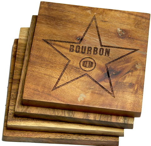 Bourbon Walk of Fame Star Coasters (California)