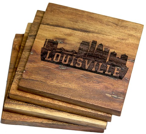 Louisville Kentucky Skyline Version Two Coasters