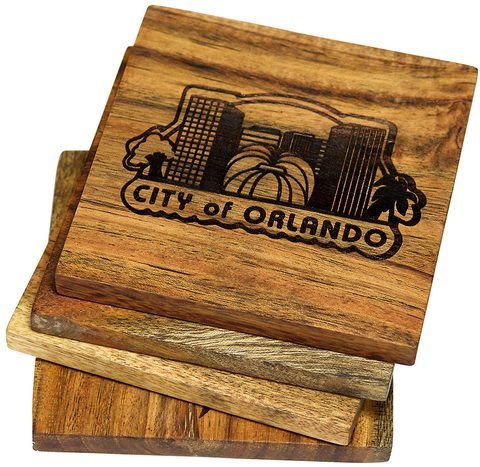 The Seal of the City of Orlando, Florida Coasters