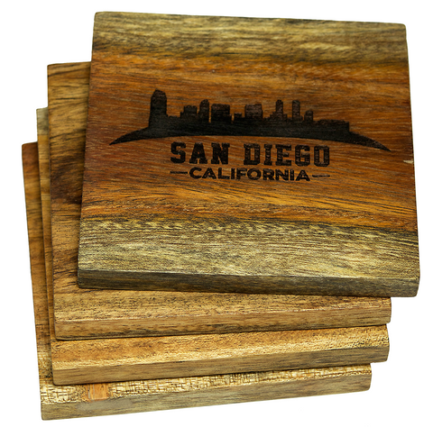 San Diego California Skyline Coasters
