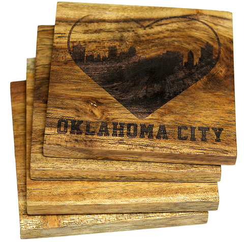 I Love Oklahoma City Coasters