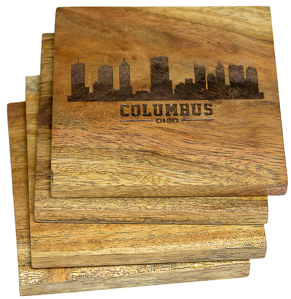 Columbus, Ohio Skyline Version 2 Coasters