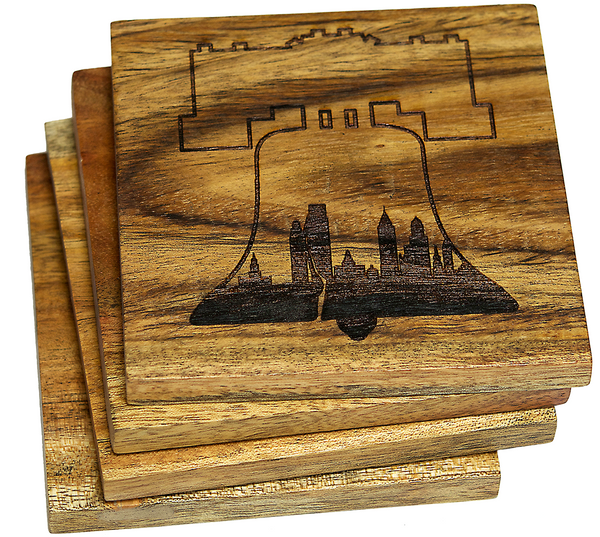 Philadelphia Pennsylvania  Skyline within Liberty Bell Coasters