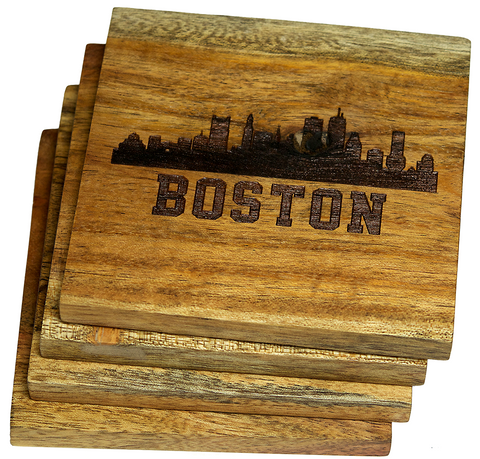 Boston Massachusetts Skyline Coasters