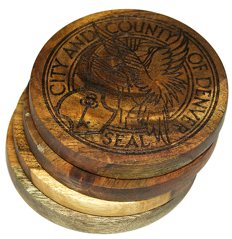 Denver, Colorado City Seal Coasters