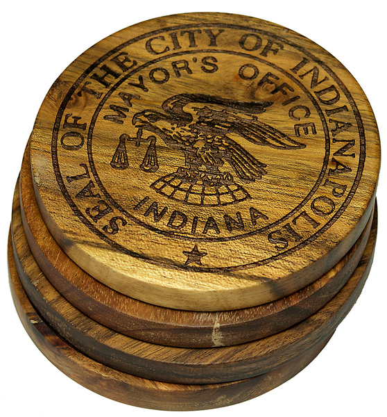 Seal of the City of Indianapolis Indiana Coasters