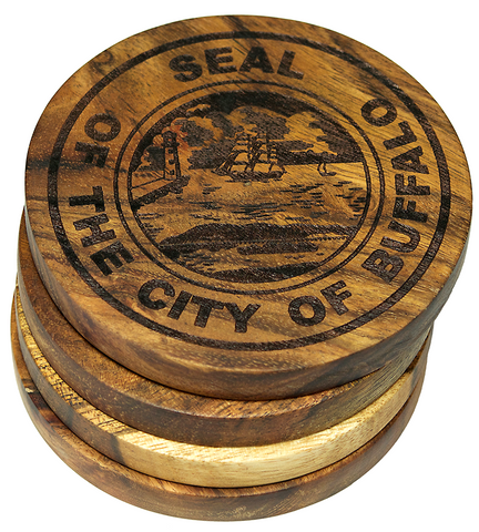 Buffalo, New York City Seal Coasters