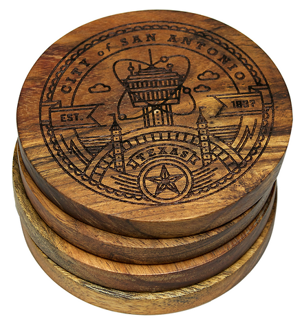 City of San Antonio Texas Seal Coaster