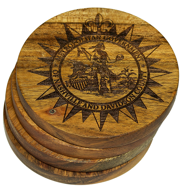 City Seal of Nashville Tennessee Coasters