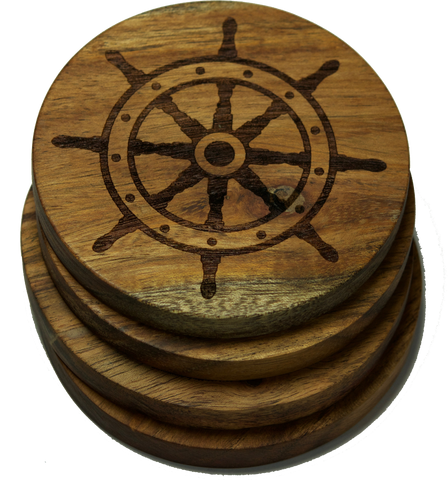 Ship Steering Wheel Nautical Coasters