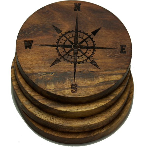 Compass Rose Version 2 (Nautical) Coasters