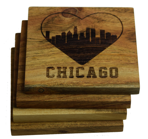 I Love Chicago, Illinois Coasters