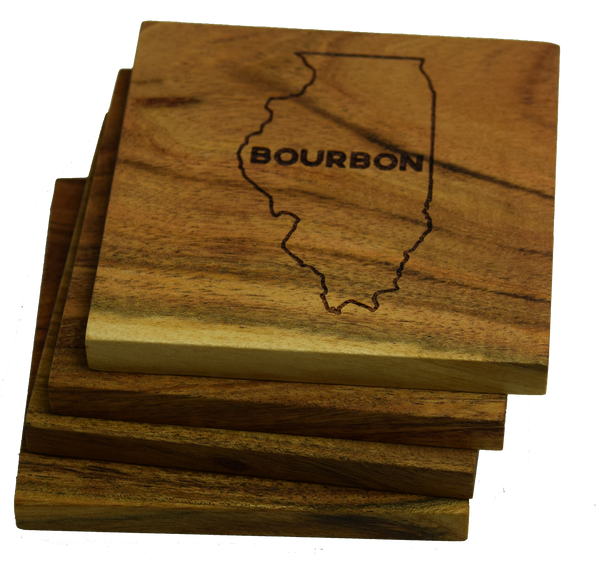 Illinois Bourbon Coasters