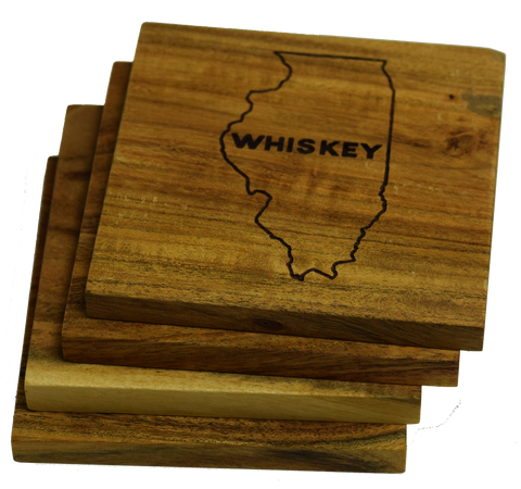 Illinois Whiskey Coasters