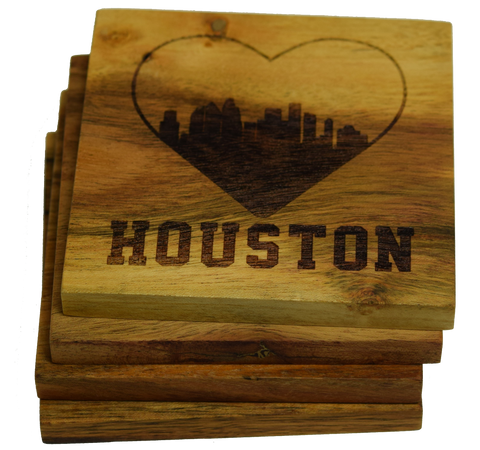I Love Houston Texas Skyline Coaster
