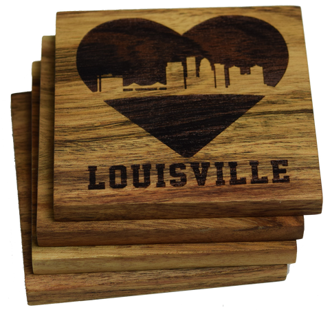 I Love Louisville Kentucky Coasters