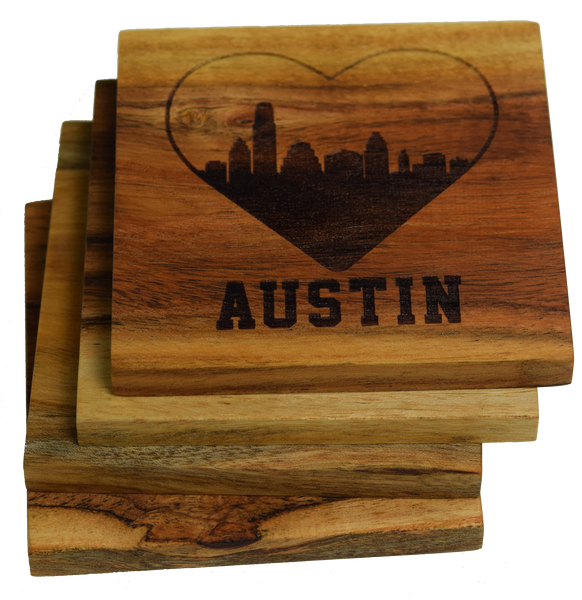 I Love Austin Texas Skyline Coaster