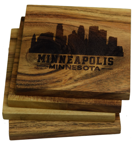 Minneapolis Minnesota Skyline Coasters