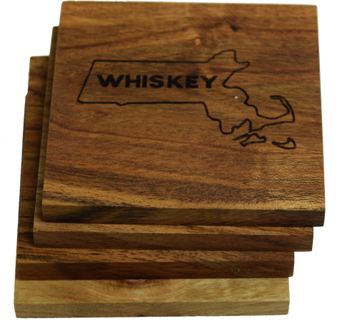 Boston Massachusetts Whiskey Coasters