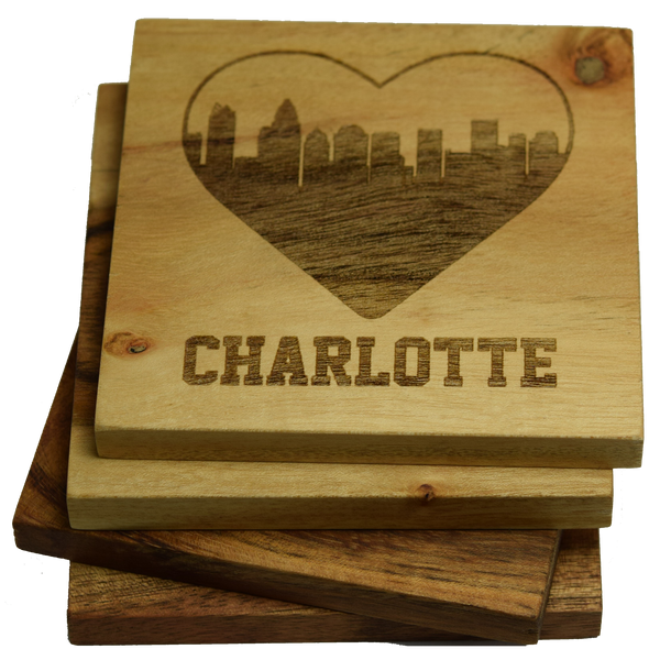 I Love Charlotte North Carolina Coasters
