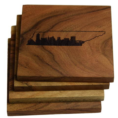 Memphis Skyline within Tennessee Outline