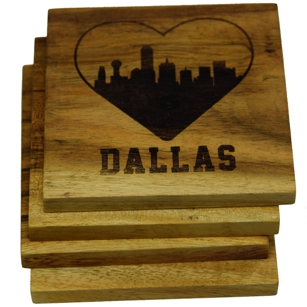 I Love Dallas Texas Skyline Coaster