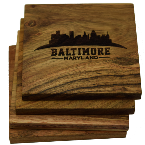 Baltimore Maryland Skyline Coasters