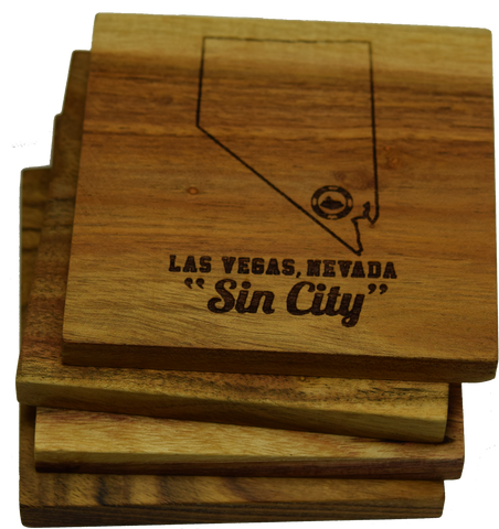 Las Vegas Nevada Sin City Coasters
