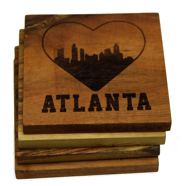 I Love Atlanta Georgia Skyline Coasters
